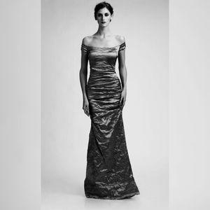 Nicole Miller Collection Metallic Formal Dress